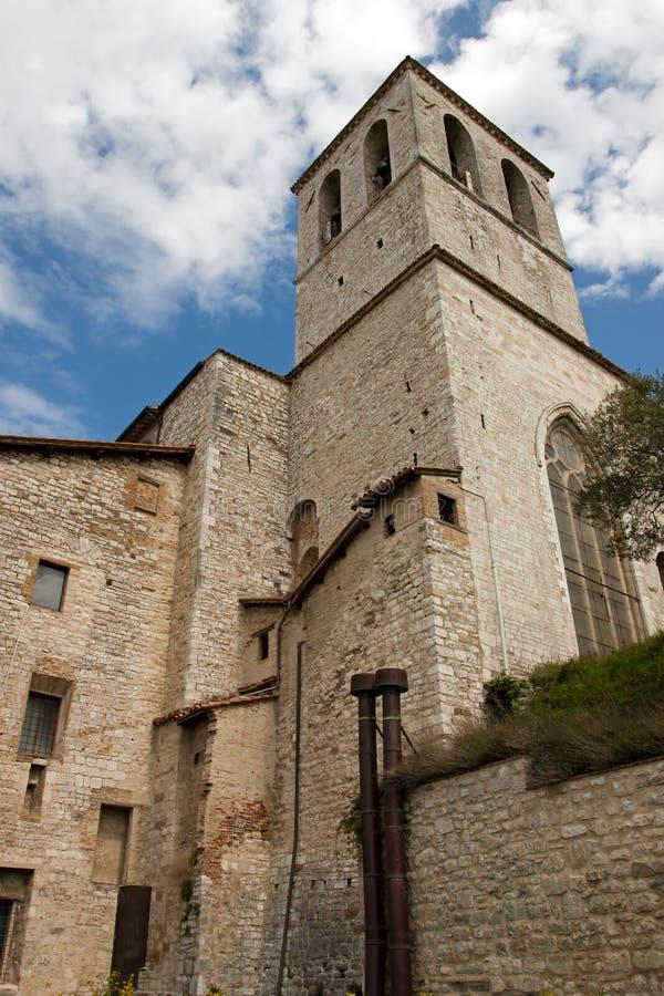 Het Paleis van de consul in het historische centrum van Gubbio stock afbeeldingen
