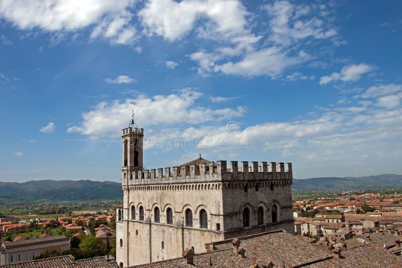 Het Paleis van de consul in het historische centrum van Gubbio stock fotografie