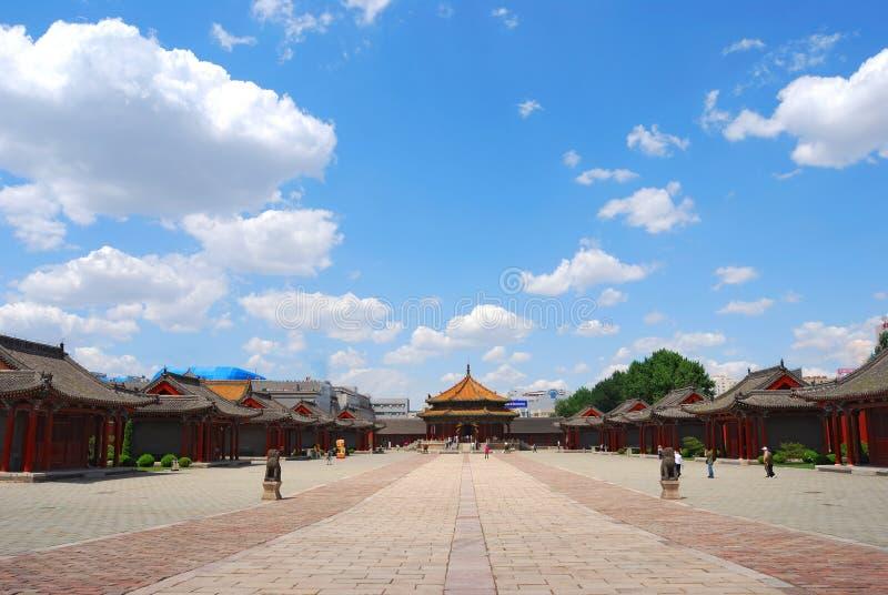 Het paleis van de Dynastie van Qing stock foto's