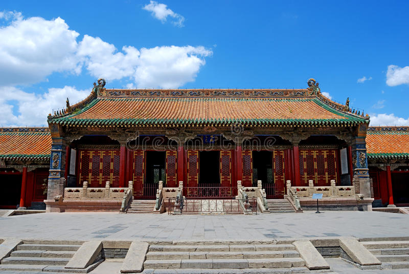 Het paleis van de Dynastie van Qing (chongzheng paleis) royalty-vrije stock foto's