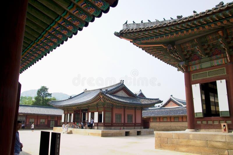 Het paleis van de keizer in Seoel stock foto