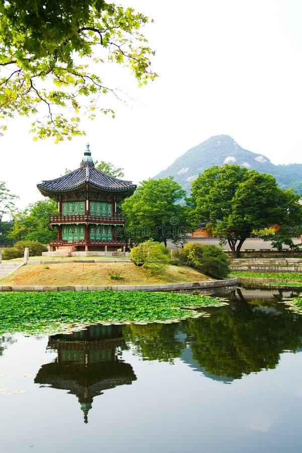 Het paleis van de keizer in Seoel stock afbeelding