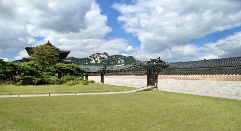 Het paleis van de keizer in Seoel. Zuid-Korea. stock foto's