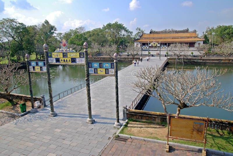 Het paleis van de keizer in Tint, Vietnam stock afbeeldingen