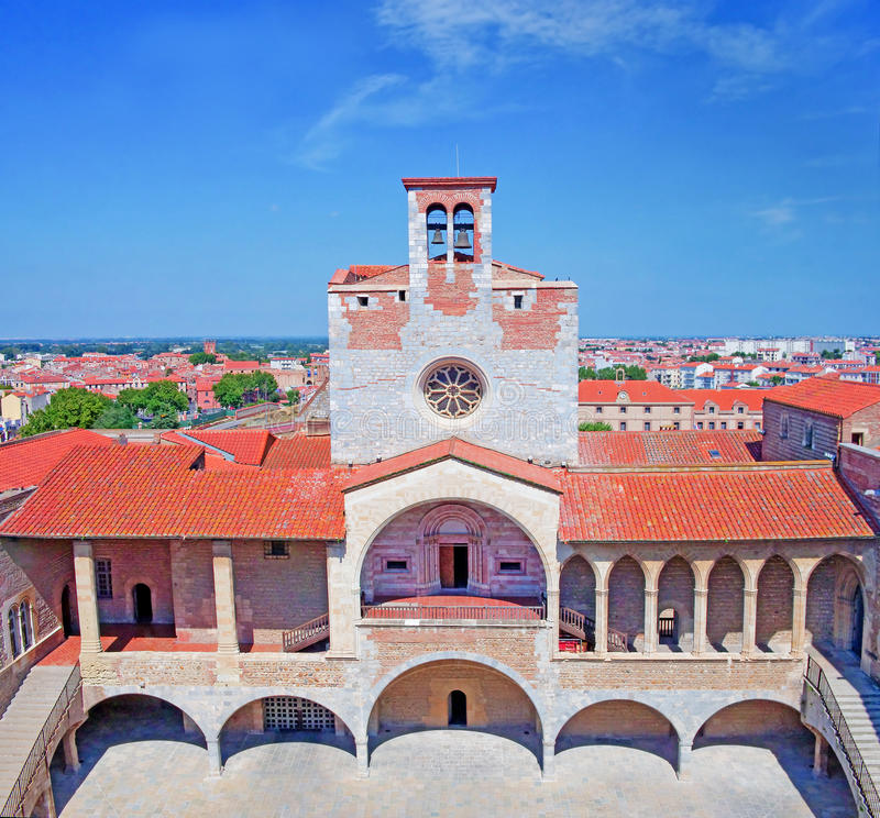 Het paleis van de koningen van Majorca in Perpignan royalty-vrije stock afbeeldingen