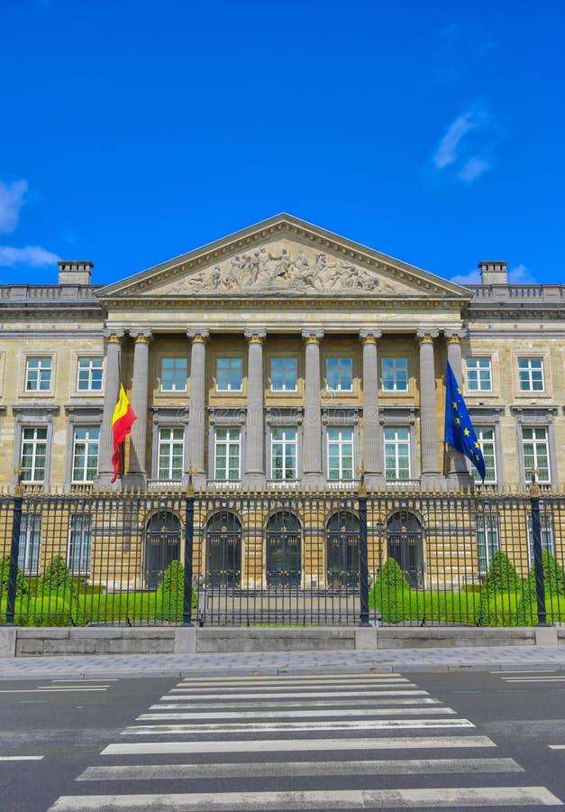 Het Paleis van de Natie in Brussel, België stock fotografie