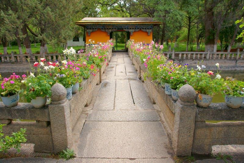Het Paleis van de Norbulingkazomer stock fotografie