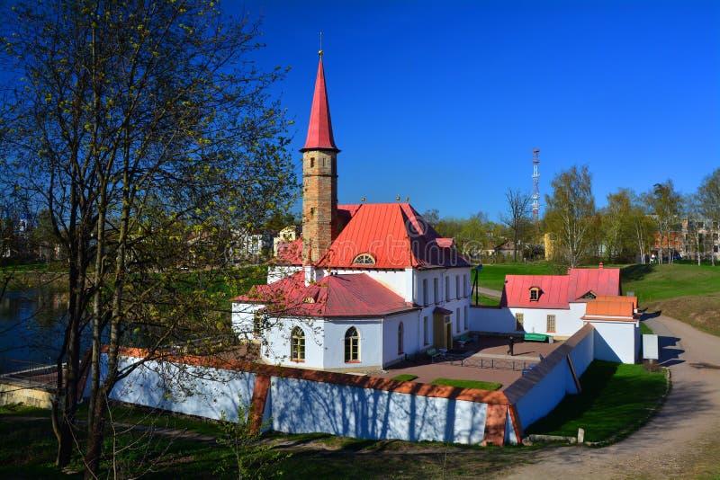 Het paleis van de priorij Gatchina St Petersburg, Rusland royalty-vrije stock fotografie