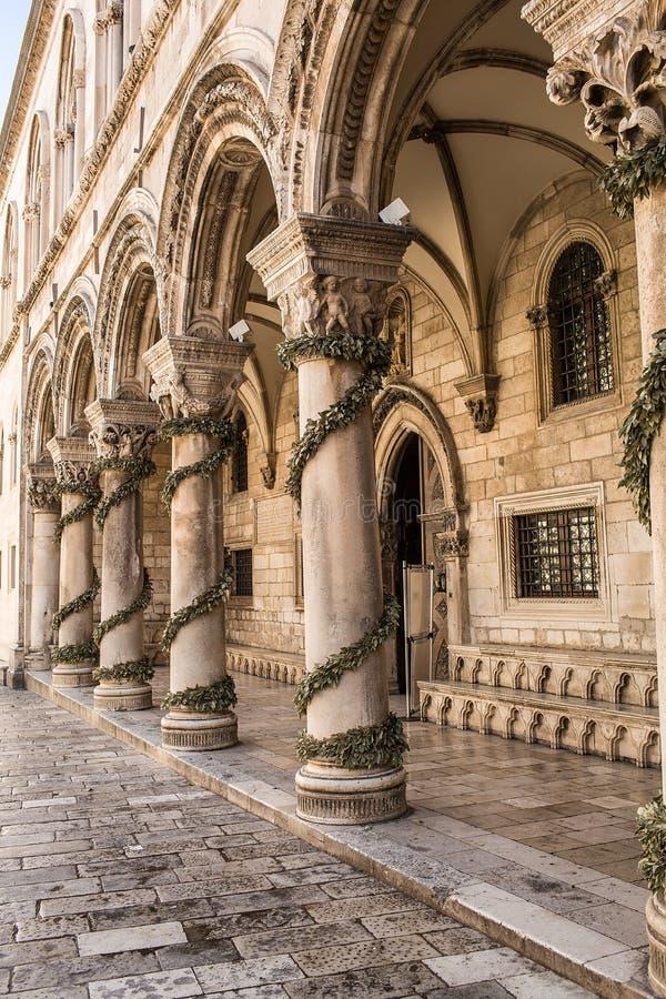 Het paleis van de rector dubrovnik Kroatië royalty-vrije stock afbeeldingen