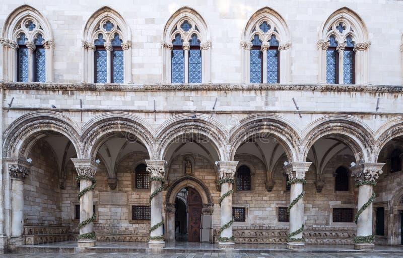 Het paleis van de rector dubrovnik Kroatië royalty-vrije stock afbeelding