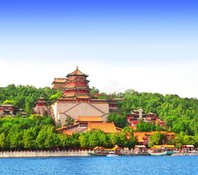 Het Paleis van de zomer in Peking, China stock afbeelding