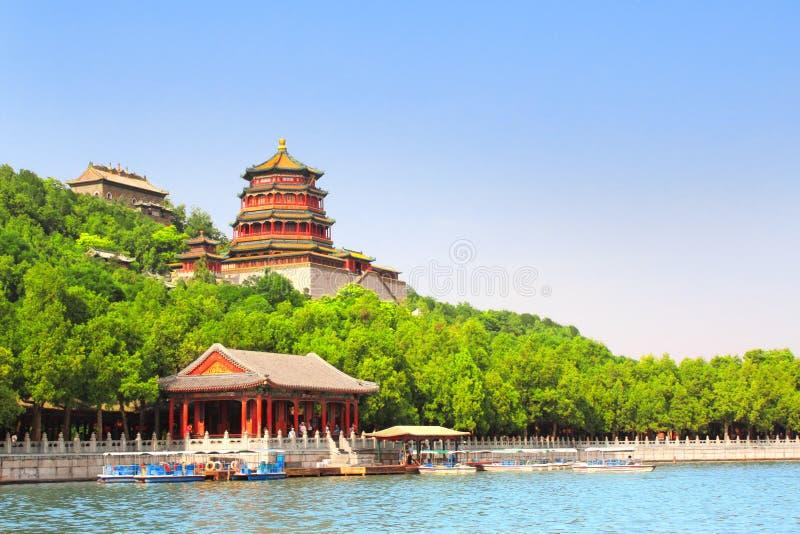 Het Paleis van de zomer in Peking, China stock foto's