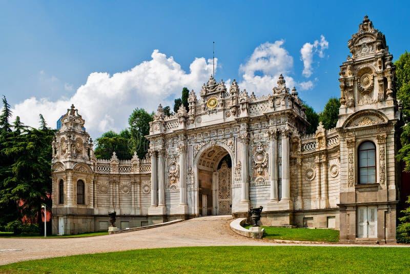 Het paleis van Dolmabahce stock afbeelding
