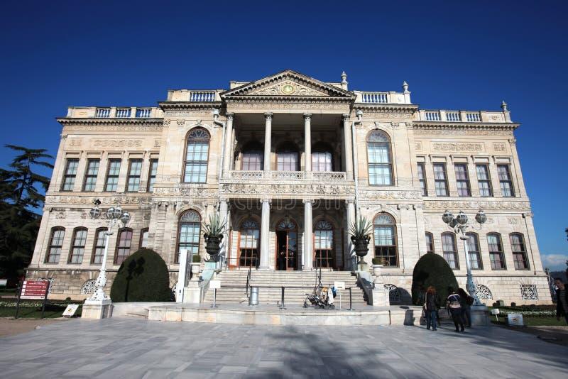 Het paleis van Sarayi van Dolmabahce in Istanboel royalty-vrije stock afbeeldingen