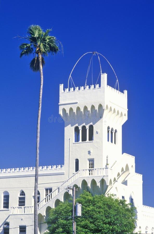 Het Paleis van Florence in Hyde Park Historic District, Tamper, Florida wordt gevestigd dat royalty-vrije stock afbeelding