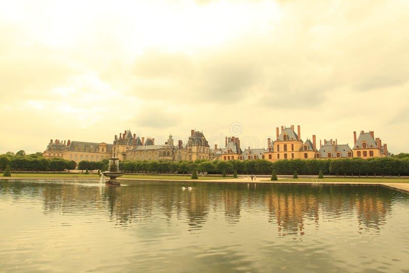 Het paleis van Fontainebleau stock fotografie