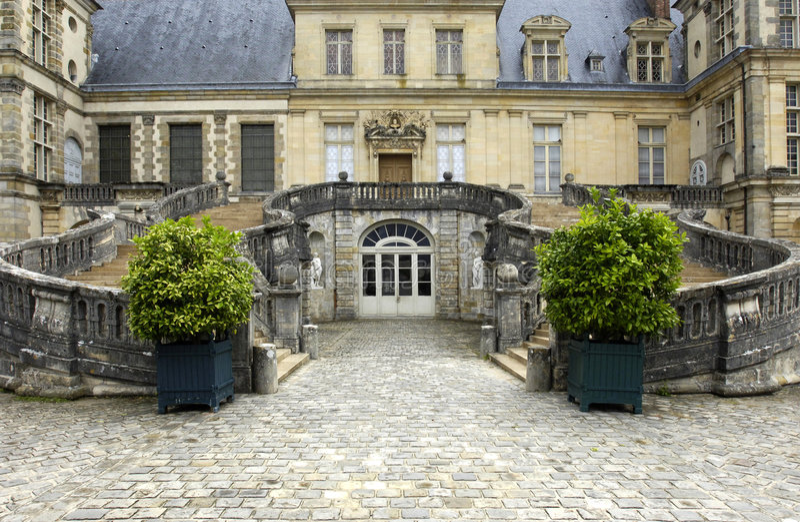 Het paleis van Frankrijk, Fontainebleau royalty-vrije stock foto's