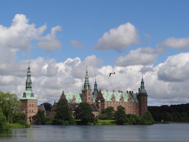 Het Paleis van Frederiksborg, Hillerød, Denemarken royalty-vrije stock afbeelding