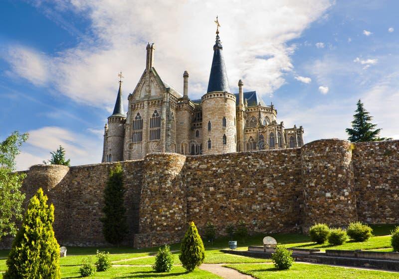Het Paleis van Gaudi in Astorga royalty-vrije stock fotografie