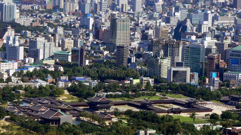 Het paleis van Gyeongbokgung in Seoel royalty-vrije stock fotografie