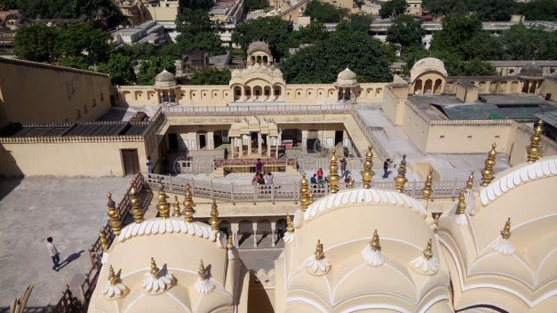 Het Paleis van Hawa Mahal 'van Jaipur Rajsthan India van Winden royalty-vrije stock foto's