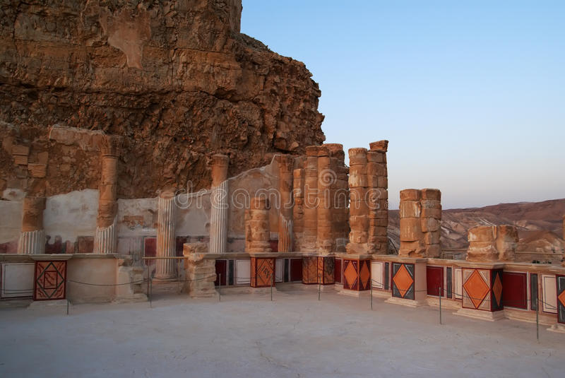 Het paleis van Herod van de koning stock afbeelding