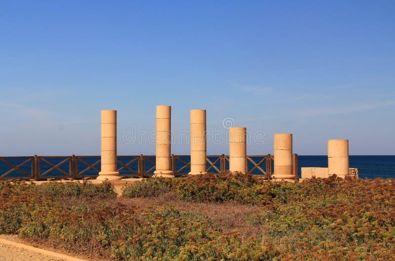 Het Paleis van het Herodsvoorgebergte in Caesarea Maritima Nationaal Park royalty-vrije stock fotografie