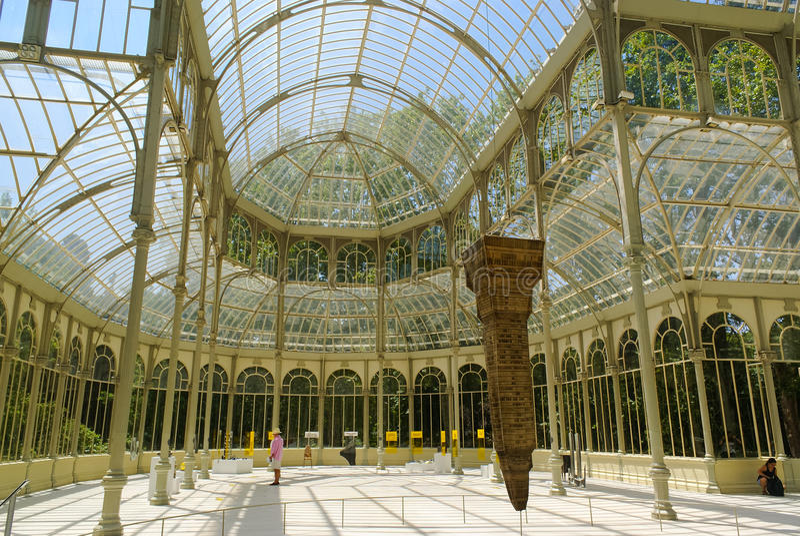 Het Paleis van het kristal in Madrid royalty-vrije stock afbeeldingen