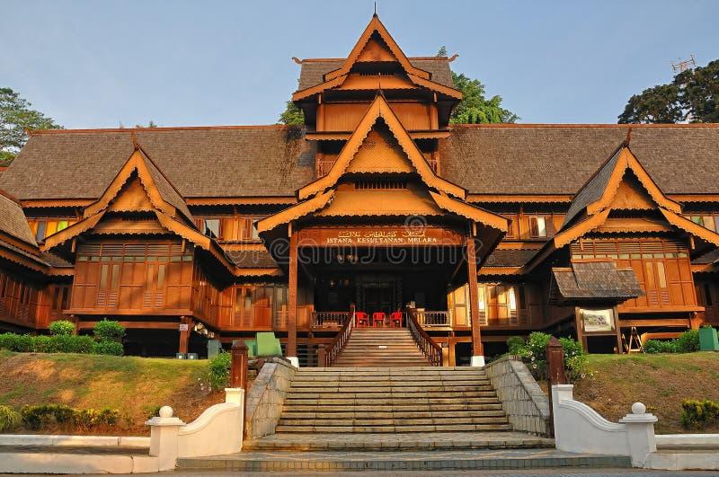 Het Paleis van het Sultanaat van Malacca stock foto