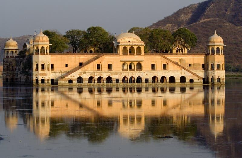 Het Paleis van het water, Jaipur, India royalty-vrije stock afbeelding