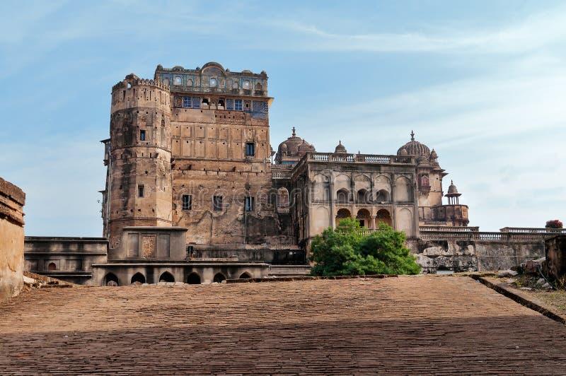 Het Paleis van Jahangir Mahal of Orchha- royalty-vrije stock afbeeldingen