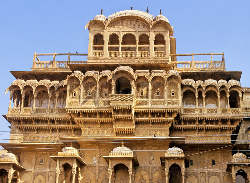 Het paleis van Jaisalmer royalty-vrije stock afbeelding