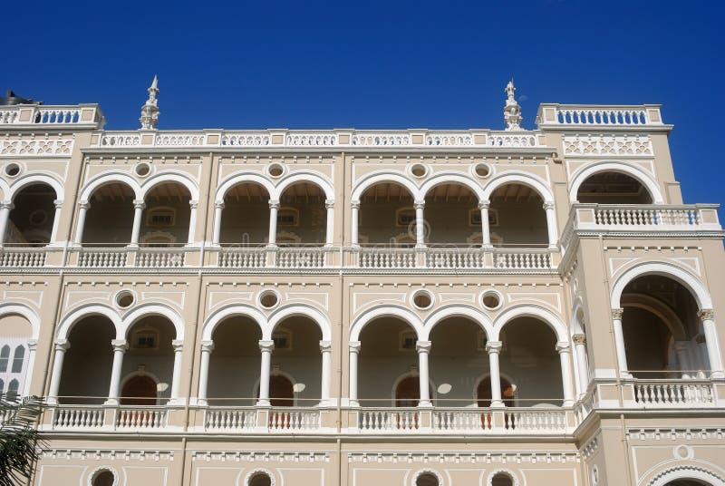 Het Paleis van Khan van Aga, Pune, Maharashtra, India stock afbeelding