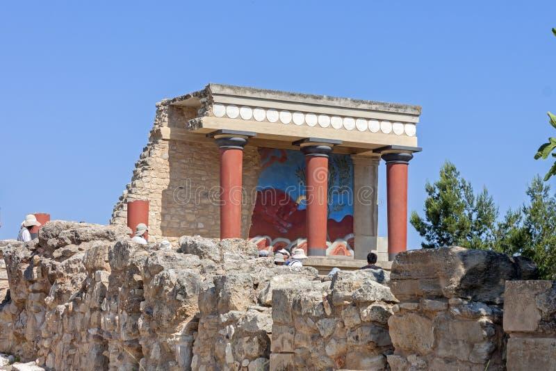 Het Paleis van Knossos in Kreta royalty-vrije stock foto