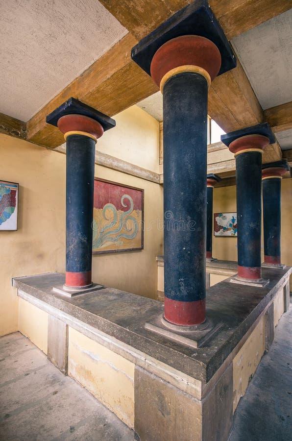 Het paleis van Knossos, Kreta royalty-vrije stock afbeeldingen
