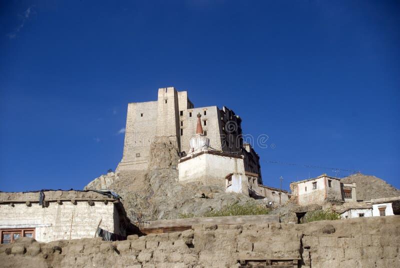 Het Paleis van Leh, Leh, Ladakh, India stock foto