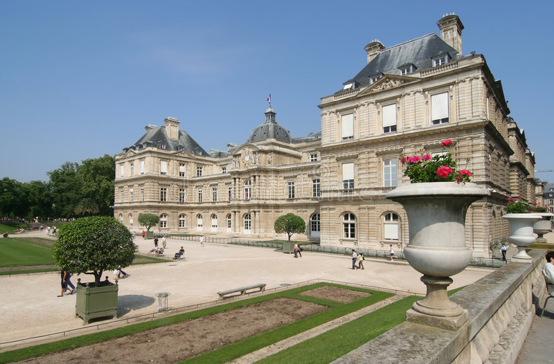 Het Paleis van Luxemburg royalty-vrije stock afbeelding