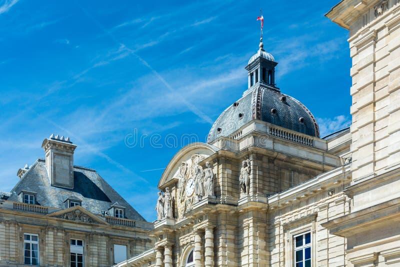 Het Paleis van Luxemburg in Parijs stock afbeeldingen