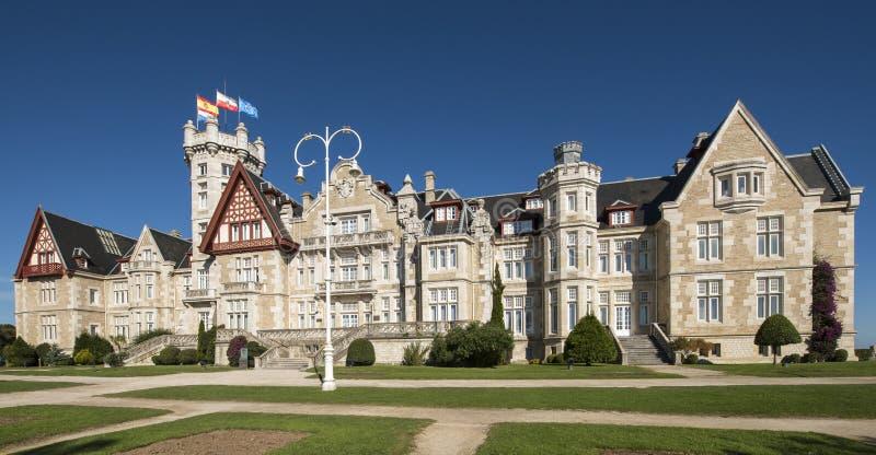Het paleis van Magdalena in Santander, Cantabrië, Spanje. stock fotografie