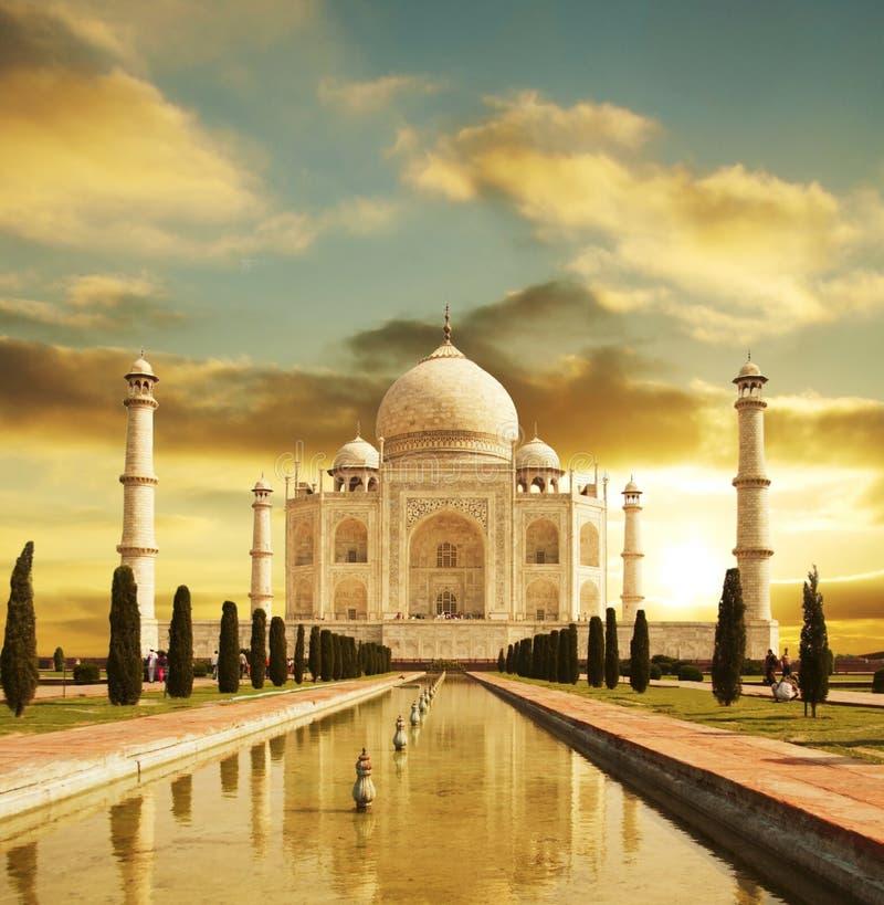 Het paleis van Mahal van Taj stock afbeelding