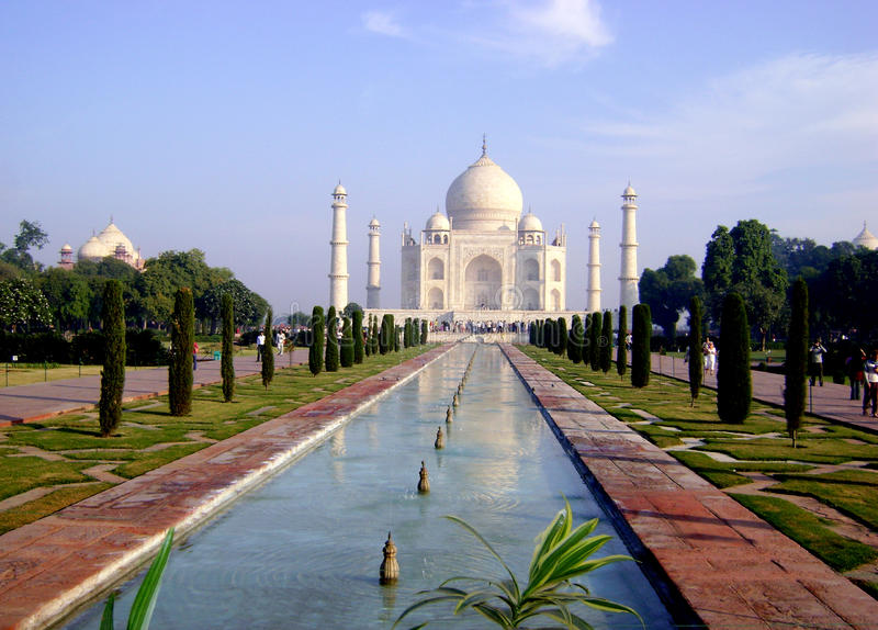 Het paleis van Mahal van Taj - India royalty-vrije stock fotografie