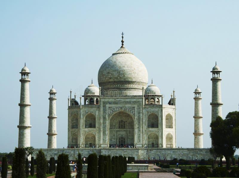 Het paleis van Mahal van Taj in India stock foto