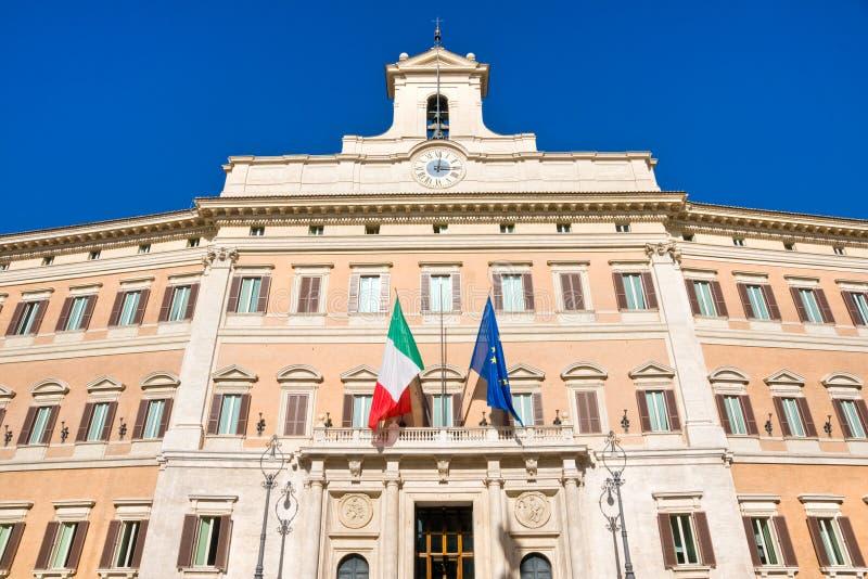 Het Paleis van Montecitorio, Rome, Italië. royalty-vrije stock foto