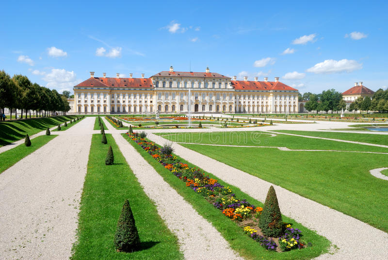 Het Paleis van Oberschleissheim dichtbij München royalty-vrije stock afbeelding