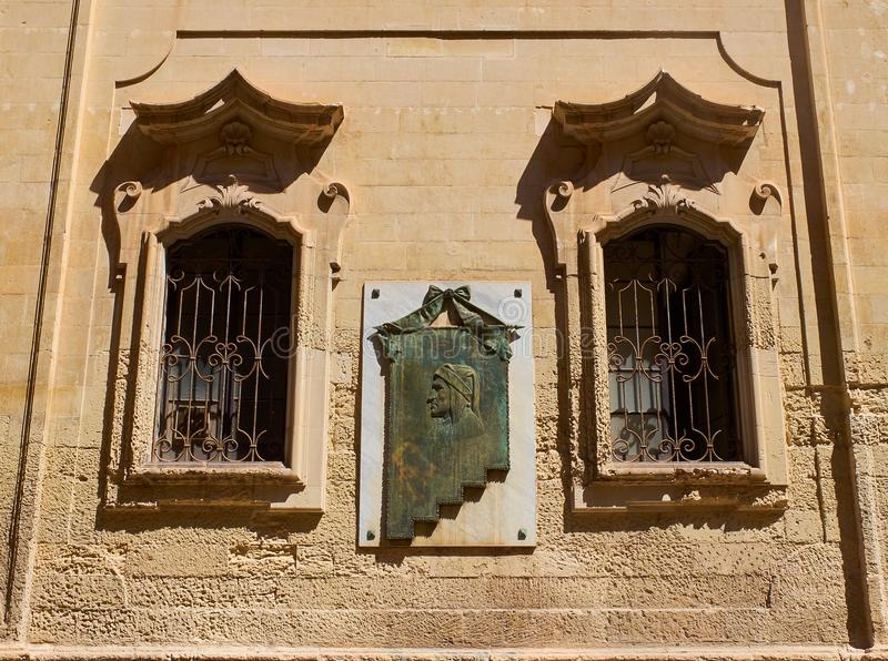 Het paleis van Palazzocarafa, Monastero-het klooster van deicelestini van Lecce Puglia, Italië royalty-vrije stock foto's