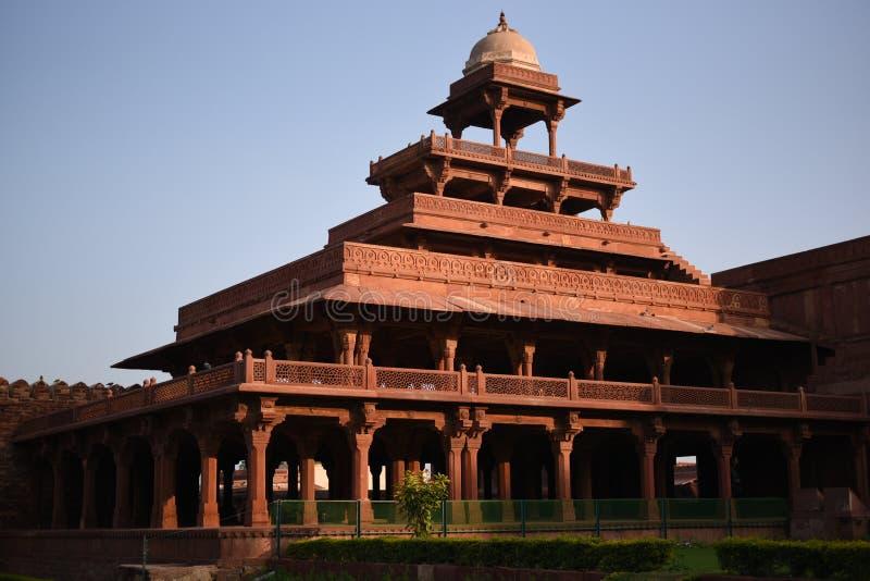 Het paleis van Panchmahal, Fatehpur Sikri, Uttar Pradesh stock afbeelding