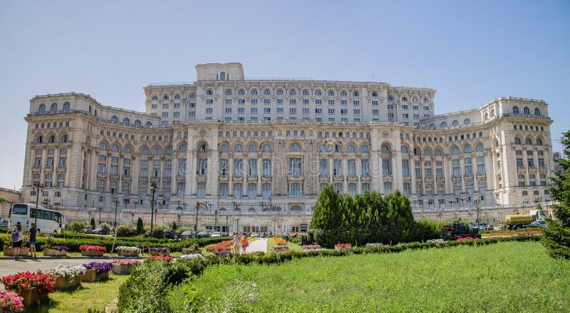 Het paleis van het Parlement, Boekarest, Roemeni? stock foto