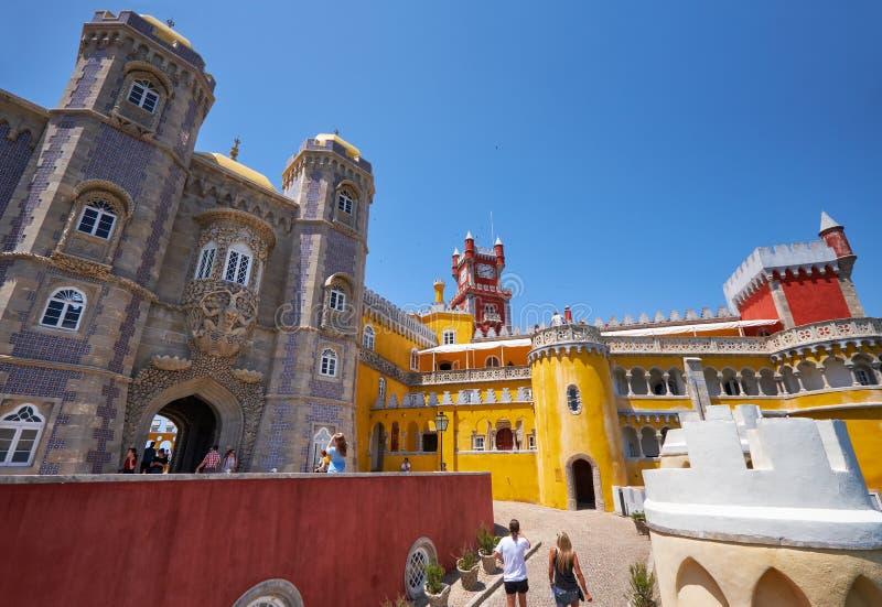 Het paleis van Pena Sintra portugal stock foto's