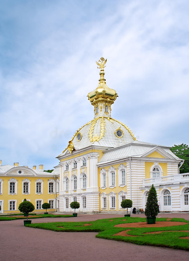 Het paleis van Peter. St. Petersburg, Rusland. stock fotografie