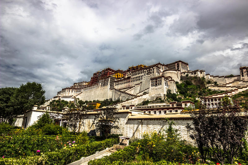 Het Paleis van Potala, Tibet stock foto's